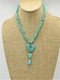 Turq.Mtn-Bonnie Sandoval Necklace Cons. - Karina on canyon