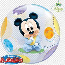 Disney Baby Mickey Mouse Minnie Mouse Balloon The Walt Disney Company, mickey  mouse, ribbon, child, heroes png