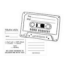 plain rsvp cards 50 song request cassette tape generic rsvp cards rsvp postcards no