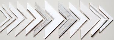 white wood frames