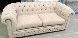Buy Chesterfield Linen Medium Sofa Silver From Our Fabric Sofas Fabric Chesterfield Sofas Uk