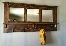 mirror with coat hook coat racks mirrored coat rack coat hooks with mirror brown wooden wall mirror with coat hook