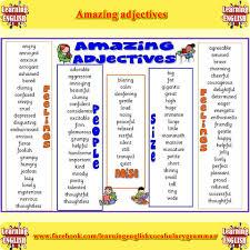 Amazing Adjectives Fdbs Pinterest Common Adjectives