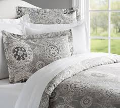 jacquelyn duvet cover sham pottery barn intended for grey and white ideas 9