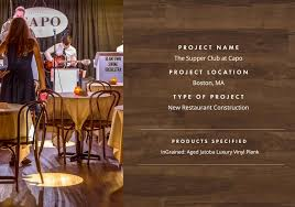 the supper club at capo parterre s wood look flooring selected for new speakeasy in south boston
