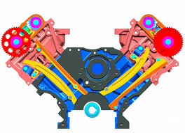 parts engine diagram front view