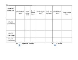 Daily Star Chart For Behavior Management