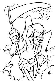 Small Picture Scary Halloween Coloring Pages Printables Fun for Halloween