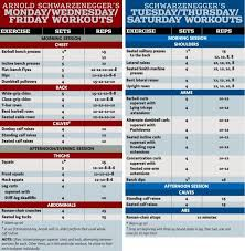 Arnold Gym Workout Chart An Intimate Look At Arnold Schwarzenegger At Golds Gym