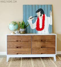 white mid century modern dresser. Delighful Mid DIY Crate And Barrel Midcentury Modern Inspired Dresser Via MakelyHomecom  Painted With  Intended White Mid Century