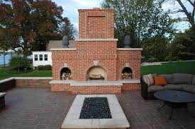 red brick outdoor fireplace wood storage outdoor fireplace outdoor innovations aledo il