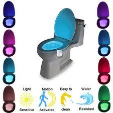 Đèn Led 8 màu gắn bồn cầu cảm biến chuyển động đổi màu tiện dụng