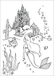 Little Mermaid Colouring Pages Printable Coloring Cute Related Relat