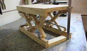 diy scissor lift table awesome how to make your own diy scissor lift with plans