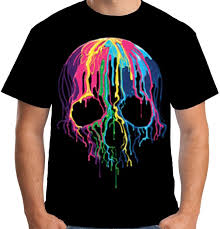 Scary T Shirts Designs Velocitee Mens Melting Skull T Shirt Colourful Scary Evil Horror Biker Dj A19423 Funny Casual Tee Design Tee Shirts T Shirt Funny From Luckytshirt