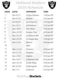 Oakland Raiders Depth Chart 2013 Free Download Oakland Raiders 2013 Schedule Printable