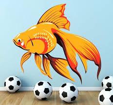fish on the wall orange aquarium fish wall sticker fish wall decor fish on the wall