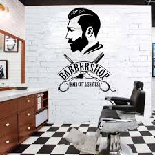 Men S Wallpaper Designs Us 8 23 23 Off Custom Mens Hair Design Wall Stickers Adhesive Wallpaper Vinyl Removable Window Decoration For Barber Shop Decor Wall Murals In Wall