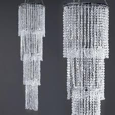 party chandelier acrylic crystal diamond 4 tier chandelier centerpiece paper chandelier party decorations