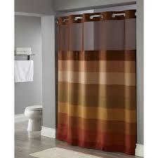 brown fabric shower curtains. Hookless® Stratus Polyester Shower Curtain W/ It\u0027s A Snap!™ Replaceable Liner 71x77 Brown Multi 12 Per Case Price Each Fabric Curtains