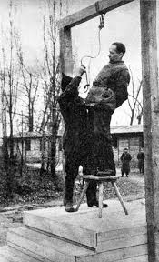 post war trials the holocaust rudolf hoess the commandant of the auschwitz concentration camp is hanged next to the crematorium
