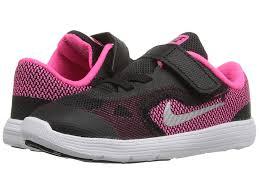 nike shoes for girls blue and pink. nike kids revolution 3 (infant/toddler) (black/hyper pink/white shoes for girls blue and pink