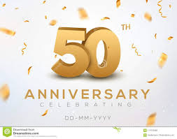 Anniversary Template 50 Anniversary Gold Numbers With Golden Confetti Celebration 50th