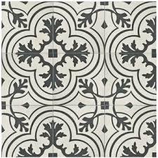 black and white tile floor. Forties 7.75\ Black And White Tile Floor I