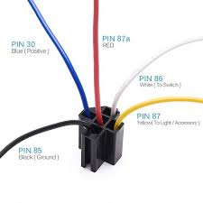 4 pin relay wiring diagram diagram pinterest 12v Relay Wiring Diagram 5 Pin 12v 30 40 amp 5 pin spdt automotive relay with wires harness socket 5 relay guide 5969007 12v 5 pin wiring diagram