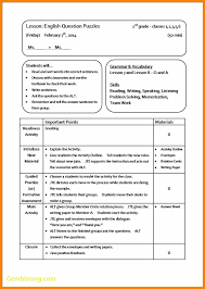 sample lesson plan outline new sample lesson plan template best templates