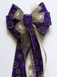 25 Best Purple And Gold Christmas Images On Pinterest  Christmas Purple Christmas Tree Bows