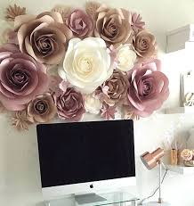 large wall flowers paper flower wall decor large large wall flowers diy
