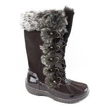 Sporto Womens Miley Chocolate Snow Boots Size 6