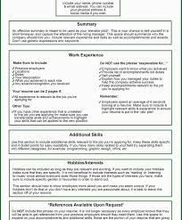 Things To Put In Your Resume Summary Awesome Things Not To Put On