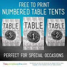 Free Printable Vector Wood Table Number Signs Free