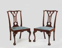 Chippendale Furniture Important Set Of Four Chippendale Carved Mahogany Side Chairs