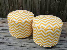 yellow pouf ottoman. Fine Pouf Chevron Pouf Ottoman Yellow Floor Pouf Round Ottoman In 18 And Yellow Pouf Ottoman