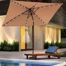 11 ft solar offset patio umbrella lighted umbrella for patio 12 ft offset patio
