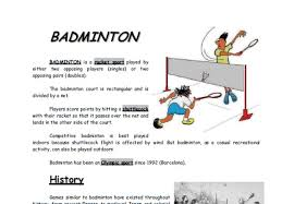 essay on my favourite game badminton words official website essay on my favourite game badminton 200 words