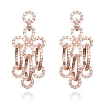 view larger ingenious rose gold chandelier earring