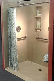 solid surface shower pan photo 4 of 7 roll in solid surface shower pan with a