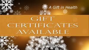 Holiday Gift Certificates Holiday Gift Certificates Available 2016 Natures Healing