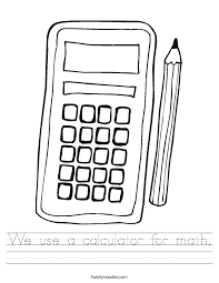 We use a calculator for math Worksheet - Twisty Noodle
