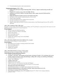 cnc programmer resume