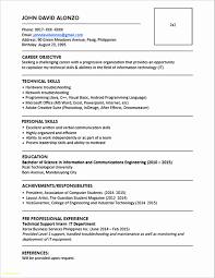 Simple Resume Sample Doc Updated Simple Resume Format In Doc Best