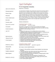 Civil Engineer Resume PDF