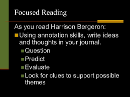 harrison bergeron by kurt vonnegut jr ppt video online  focused reading as you harrison bergeron