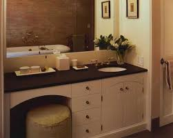 spacious bathroom captivating vanity with makeup station and double sink at table