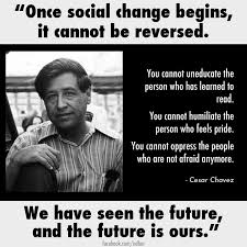 Social Change Quotes Adorable Cesar Chavez Once Social Change Begins Quotes