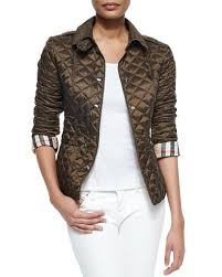 Burberry Brit Diamond Quilted Jacket, Olive &  Adamdwight.com